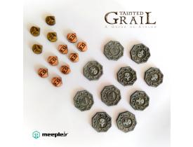 Tainted Grail: A Queda de Avalon - Discos e Marcadores de Metal