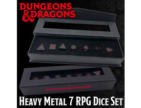 Dungeons & Dragons: Heavy Metal 7 RPG Dice Set (INGLÊS)