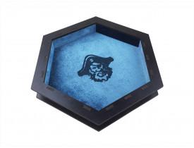 Bandeja de dados Black Premium Azul - Revestimento Azul e MDF Preto