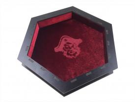 Bandeja de dados Black Premium Vermelha - Revestimento Vermelho e MDF Preto