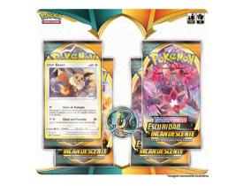 Blister Quádruplo Eevee Pokémon Espada e Escudo 3 Escuridão Incandescente