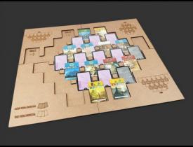 Playmat em MDF para 7 Wonders Duel - Modelo 2 - COM CASE
