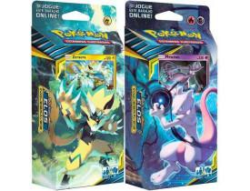 Pokémon Deck Sol e Lua Elos Inquebráveis Zeraora e Mewtwo
