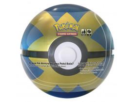 Pokémon Porta Cards Poké Bola Lata Azul