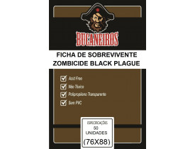 Sleeve Bucaneiros Personagens Zombicide Black Plague e Green Horde (76x88mm)