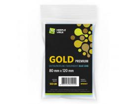 Sleeve Blue Core Meeple Virus Gold Premium