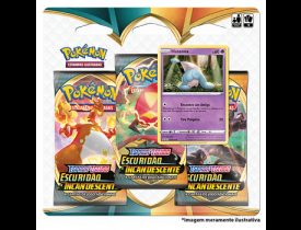 Triple Pack Hatenna Pokémon Espada e Escudo 3 Escuridão Incandescente